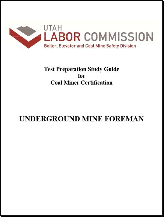 Underground Mine Foreman Study Guide